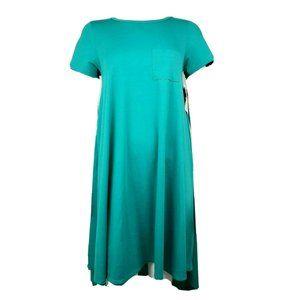 NWT LULAROE Blue/Green Carly Dress XS